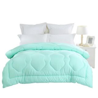 水星家纺 被子被芯床上用品 奥斯丁玫瑰四孔春秋被 双人被子200*230cm 冰绿色 *3件