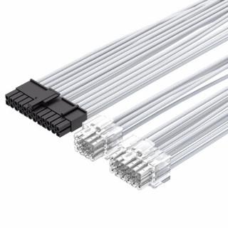 X-Enlazar 适用于 振华电源  金牌全模组电源定制线 套装6条 白色(6条)