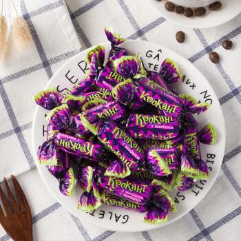 KDV 俄罗斯进口 扁桃仁夹心巧克力糖 500g 约70颗