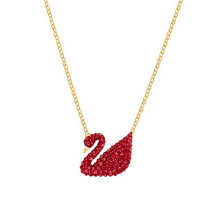 SWAROVSKI 施华洛世奇 5465400 女士红天鹅Iconic Swan项链