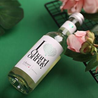 匈牙利原瓶进口红酒爱嗨霞多丽半干白葡萄酒187ml*6小酒(礼盒装)