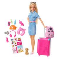 Barbie 芭比 FWV25 芭比娃娃之旅行中的芭比