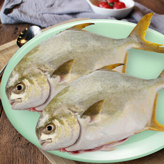 翔泰 冷冻二去金鲳鱼700g2条 BAP认证(去鳃去内脏) 袋装 海鲜水产