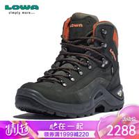 LOWA 德国 登山鞋作战靴户外防水徒步鞋RENEGADE GTX E进口男中帮 L510952 灰色/橙色 41