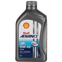 壳牌 全合成机油 Advance Ultra 10W-40 1L/桶 爱德王子四冲程摩托车机油 *12件