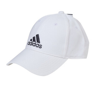 阿迪达斯(Adidas)运动帽男女休闲帽韩版潮流遮阳帽百搭防晒舒适透气鸭舌帽子 简约白色
