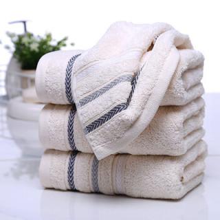 金号毛巾家纺 纯棉吸水洁面巾 洗脸毛巾 棕色1条装 70*33cm 98g