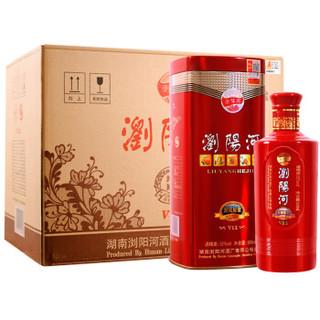 浏阳河 白酒 封藏原浆v12 浓香型 52度 500ml*6瓶 整箱装