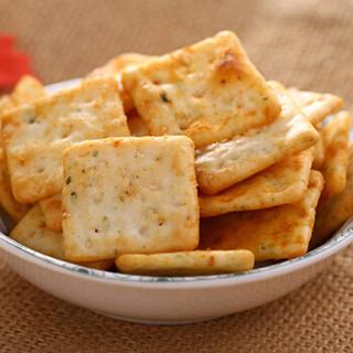 泡吧小脆非油炸薯片烘烤硬脆膨化休闲小吃零食饼干烧烤味 68gx12