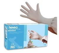 Hevea 一次性乳胶手套 M码  1x100