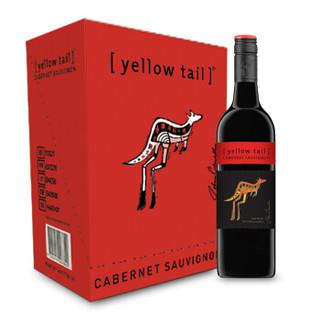 黄尾袋鼠(Yellow Tail)加本力苏维翁红葡萄酒 澳大利亚进口葡萄酒 750ml*6瓶 整箱装