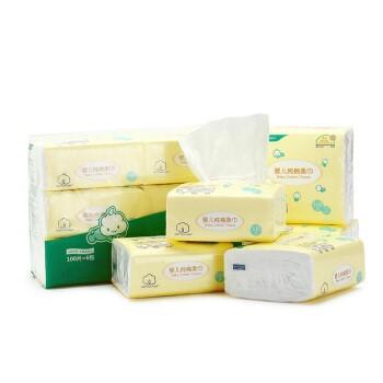 Purcotton 全棉时代 2100010928-000 婴儿纯棉柔巾 100抽*6包(11*20cm)