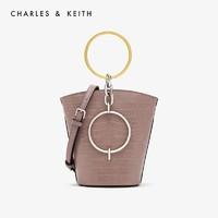 CHARLES&KEITH CK2-10671031 女士圆环手提单肩水桶包 *2件