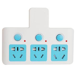 海锚TF-133一转三新国标带儿童保护门无线转换器分控开关转接插头/插座/插线板一转多孔家用扩展插排
