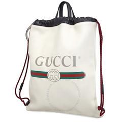 GUCCI 古驰 Printed Logo Leather 双肩包