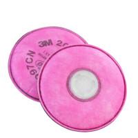 3M 2097 P100级防护有机蒸气PM2.5滤棉 粉色 2片/包