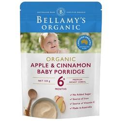 贝拉米(Bellamy's) 婴幼儿大米苹果肉桂味米粉 125克/袋装 海外进口 6个月以上 *2件