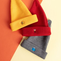 MINISO 名创优品 芝麻街系列 秋冬刺绣针织帽