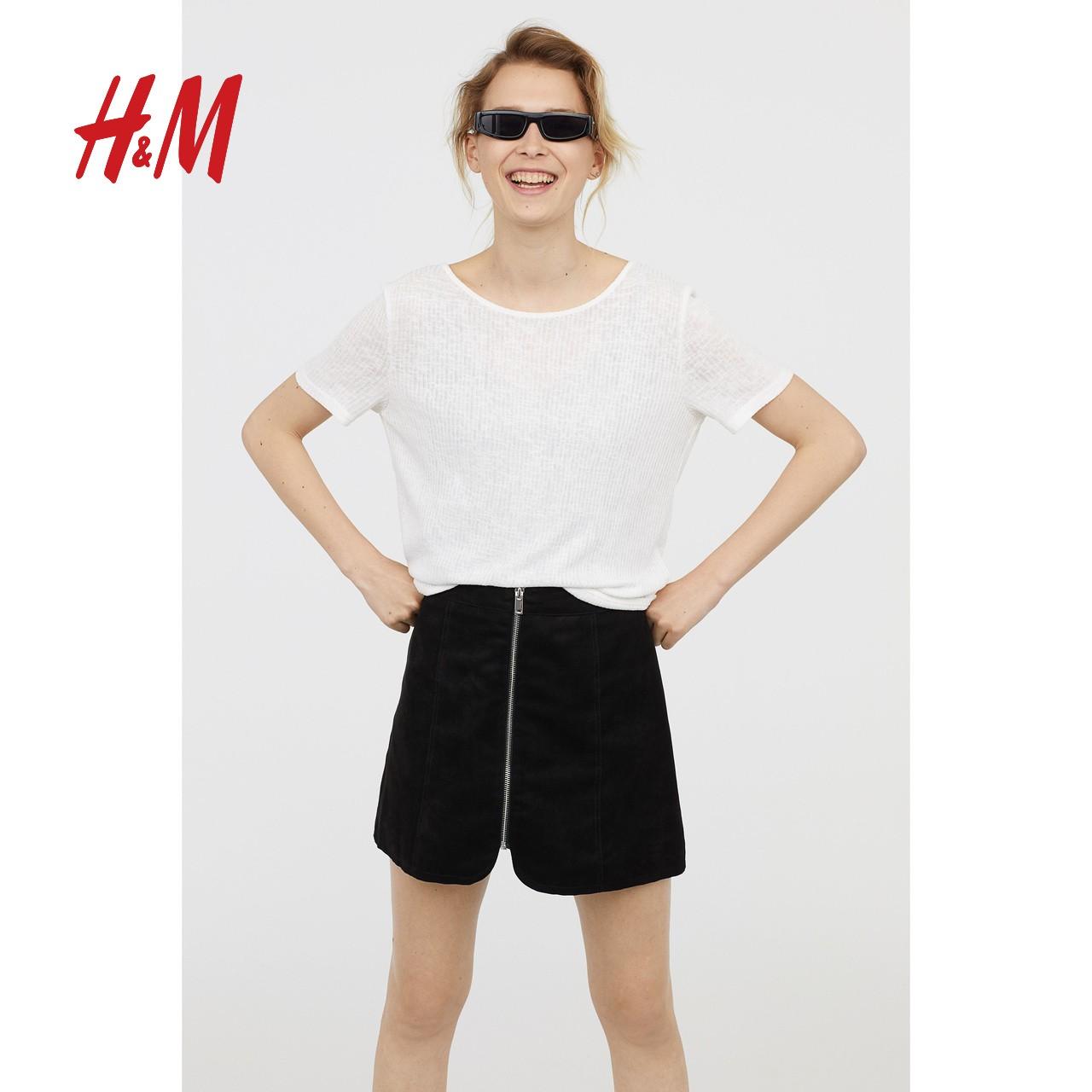 H&M 0646536 女士露背针织T恤