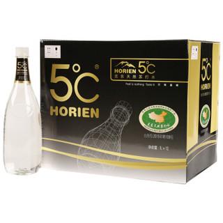 5°C(HORIEN5°C)HORIEN 克东天然苏打水 1L*12瓶 整箱装 *2件