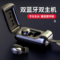 山水(SANSUI)X15蓝牙耳机真无线双蓝牙双主机降噪耳机重低音隐形迷你蓝牙5.0入耳式TWS耳机