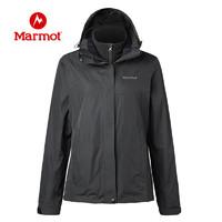 Marmot/土拨鼠户外女士抓绒三合一冲锋衣 防泼水透气防风冲锋衣