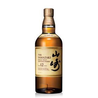 三得利(Suntory)威士忌 日本进口洋酒 山崎12年单一麦芽威士忌 700ml