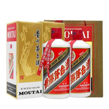 MOUTAI 茅台 飞天茅台 43%vol 酱香型白酒 500ml*2瓶 双支装