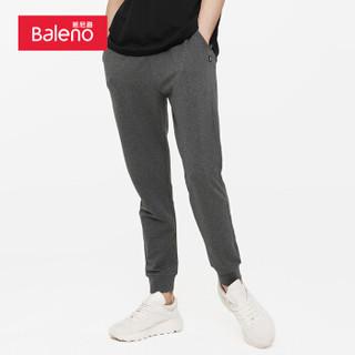 班尼路 Baleno 卫裤 2019秋季新款轻便舒适针织裤休闲运动裤束脚长裤男 88909005 00A L