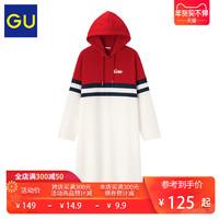GU 极优 Coca-Cola可口可乐合作款 322602 连帽卫衣长裙