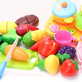 贝恩施 果蔬切切乐19件套 儿童厨房玩具