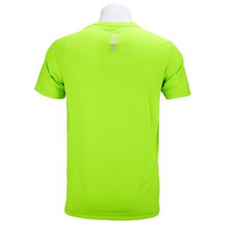 MIZUNO美津浓 短袖T恤运动服男款女 跑步吸汗速干衣乒乓球服 32CT7115 荧光黄 L