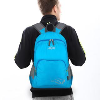 力开力朗(LOCAL LION)557 皮肤包 可折叠轻便包 男女通用便携双肩休闲包 蓝色