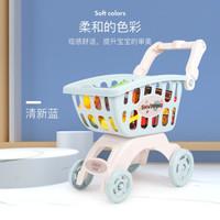贝恩施 儿童玩具大号超市购物车 配蔬果小配件