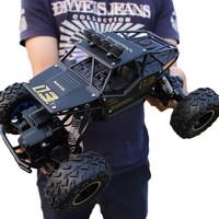 星域传奇(XINGYUCHUANQI)遥控车合金越野四驱车充电动遥控汽车大脚攀爬赛车儿童玩具 雅黑色