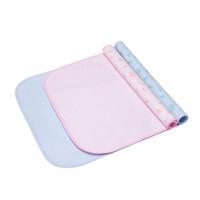 贝贝怡 婴儿用品双贴隔尿床垫 淡蓝 M码 *6件