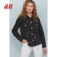 H&M 0699620 女士破洞牛仔外套
