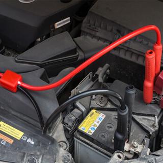 沿途 汽车电瓶搭火线 纯铜 4米 带电压过载保护器+提示灯 启动电源搭电线夹子蓄电池连接打火线全铜过江龙N06