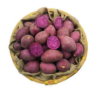 绿鲜知 紫薯 紫心地瓜 红薯 约2.5kg 健康粗粮 新鲜蔬菜