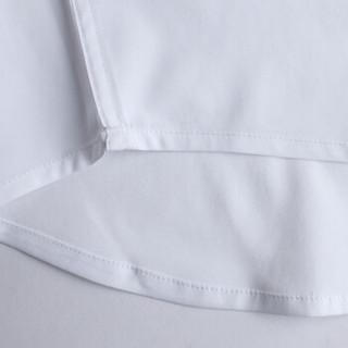 金盾 短袖衬衫男修身正装职业免烫纯色商务休闲翻领白衬衣 HZL-18010 短袖白色 L