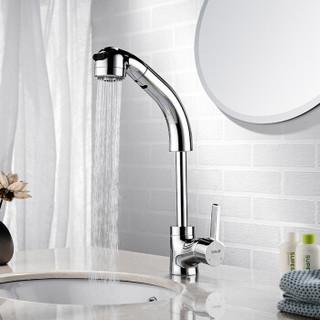 欧琳 OULIN OLMPU603抽拉式面盆冷热水龙头 洗手盆洗脸盆水龙头