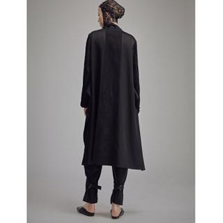 班晓雪 BAN XIAOXUE  设计师品牌 褶皱拼料长外套  JDesigner 天黑 L