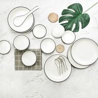 佳佰 简约陶瓷餐具18头套装 +凑单品