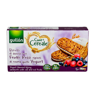 西班牙进口 谷优(Gullon)莓果酸奶风味夹心燕麦粗粮饼干 早餐下午茶220g