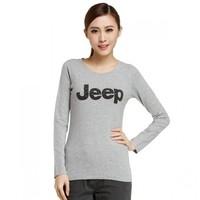 女款经典长袖T恤 JEEP字母印图