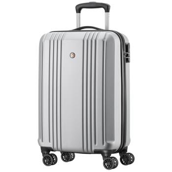 ALLANT拉杆箱万向轮 20英寸行李箱男旅行箱 ABS时尚轻盈登机箱 AL-8505 银色
