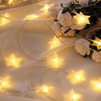鸣洲 装饰星星灯 2m 10灯泡 电池款 暖色