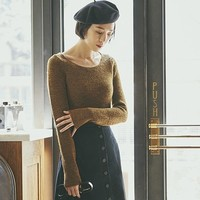 UNIQLO 优衣库 U系列 420988 女士圆领针织衫