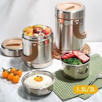 炊大皇 304不锈钢保温饭盒保温桶 1.5L
