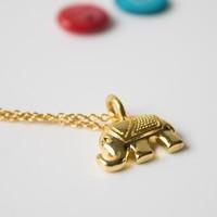 AITEKA 爱缇卡 芭提亚大象金色项链